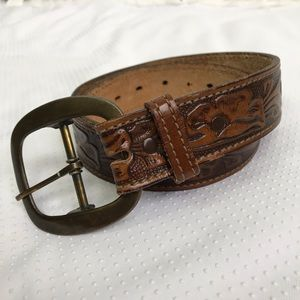 Accessories - Tooled Leather Belt